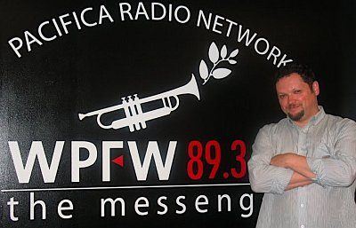 Cyril Moshkow in the WPFW studios